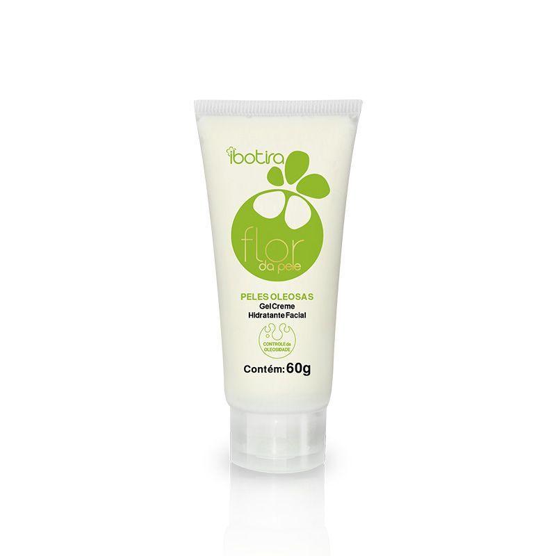 Gel Creme Hidratante Facial Para Peles Mistas e Oleosas Ibotira - Flor da pele controle da oleosidade  60 Gr