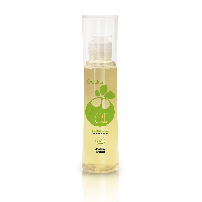 Sabonete Facial Para Peles Mistas e Oleosas  Ibotira - Flor da pele controle da oleosidade 120 ml