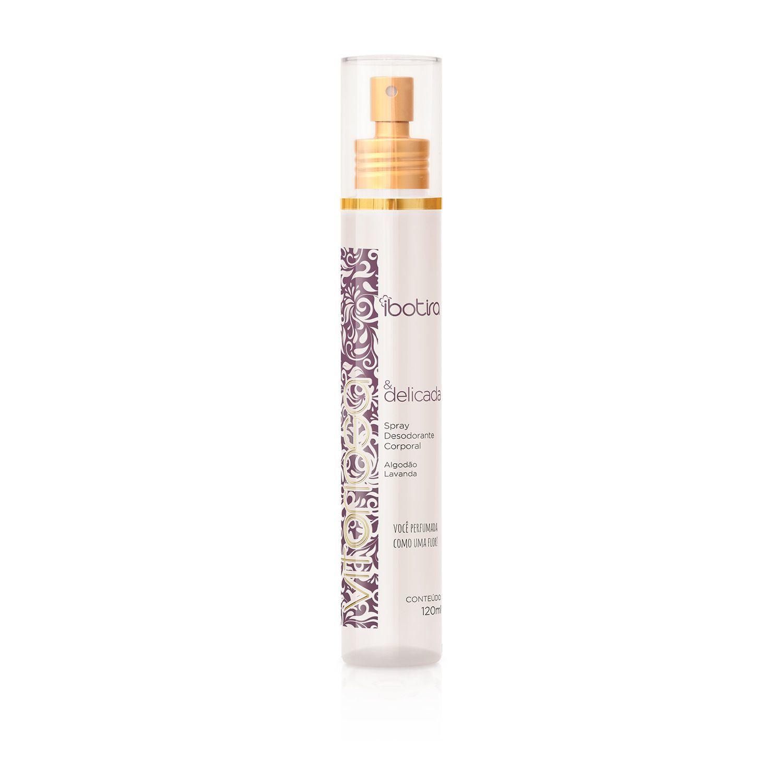 Spray Desodorante Corporal Ibotira - Vitoriosa e Delicada 120 ml