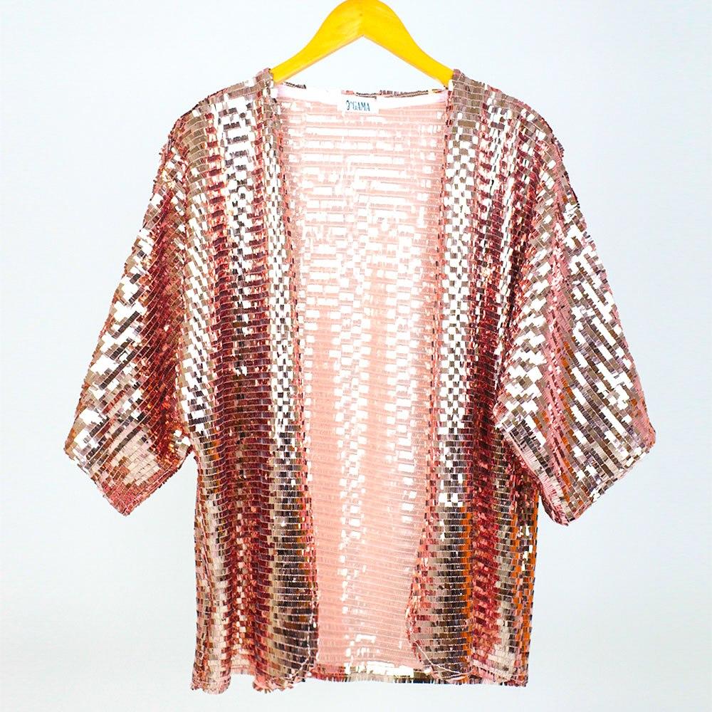 Kimono Paetê Rose