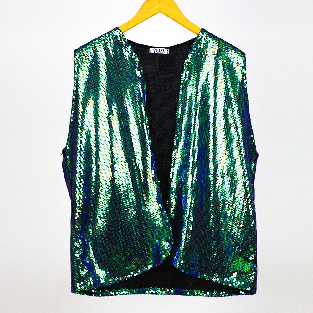 Kimono Colete Paetê Furtacor