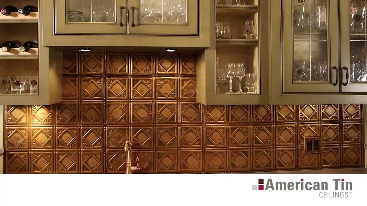 Metal Ceiling Tiles For Backsplash
