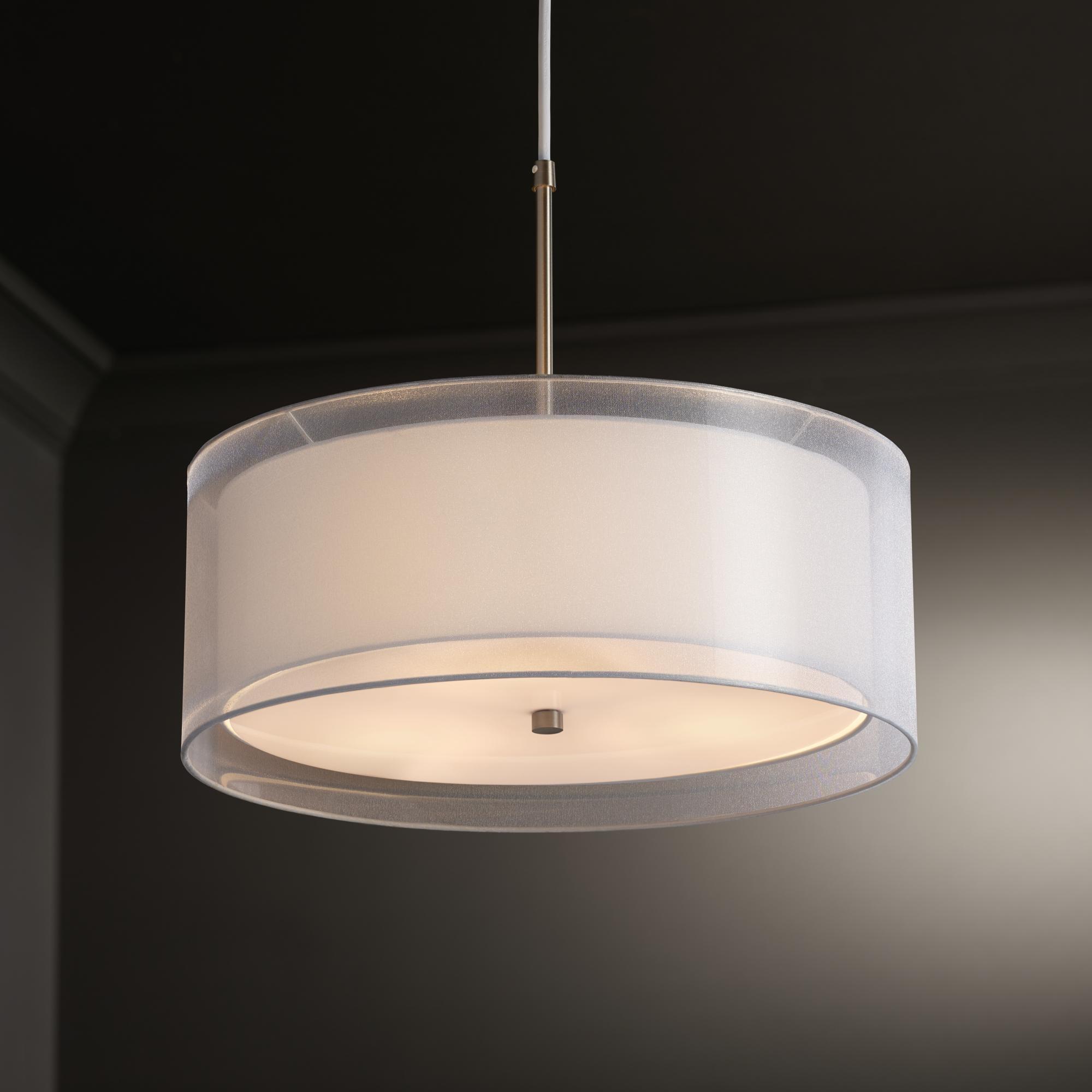 Possini Double Drum Ceiling Light