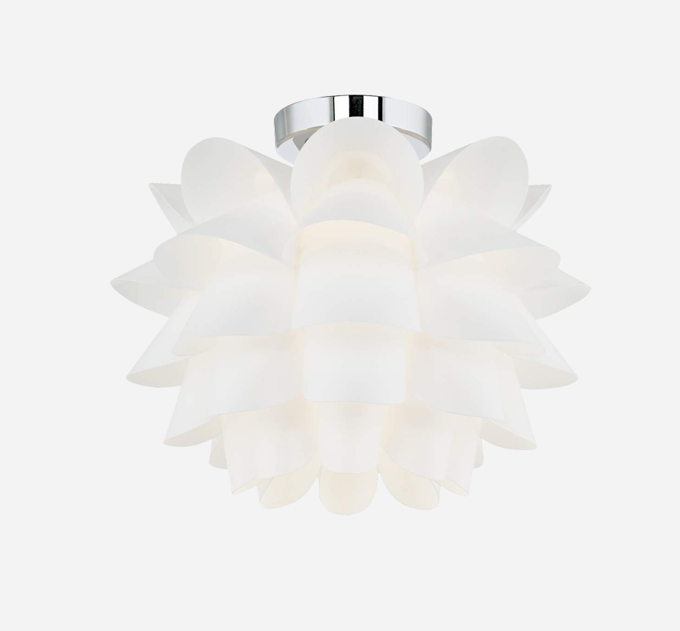 Possini Euro Design White Flower Ceiling Light