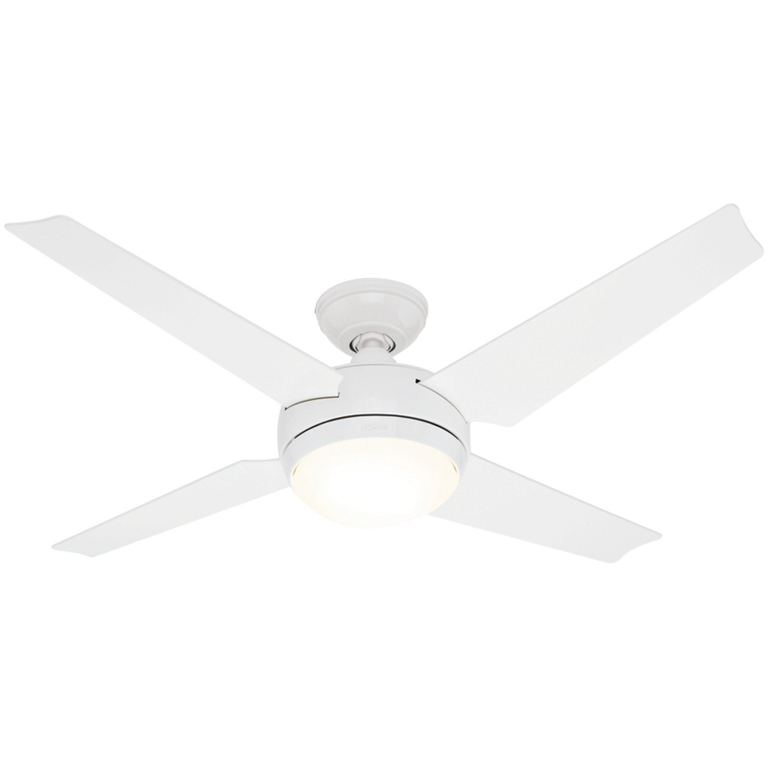 White Ceiling Fan With Led Light And Remote