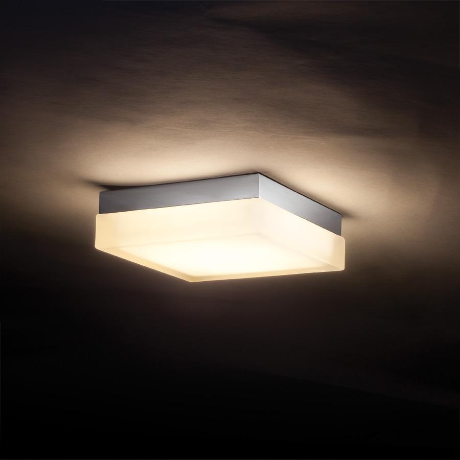 Square Glass Bathroom Ceiling Light