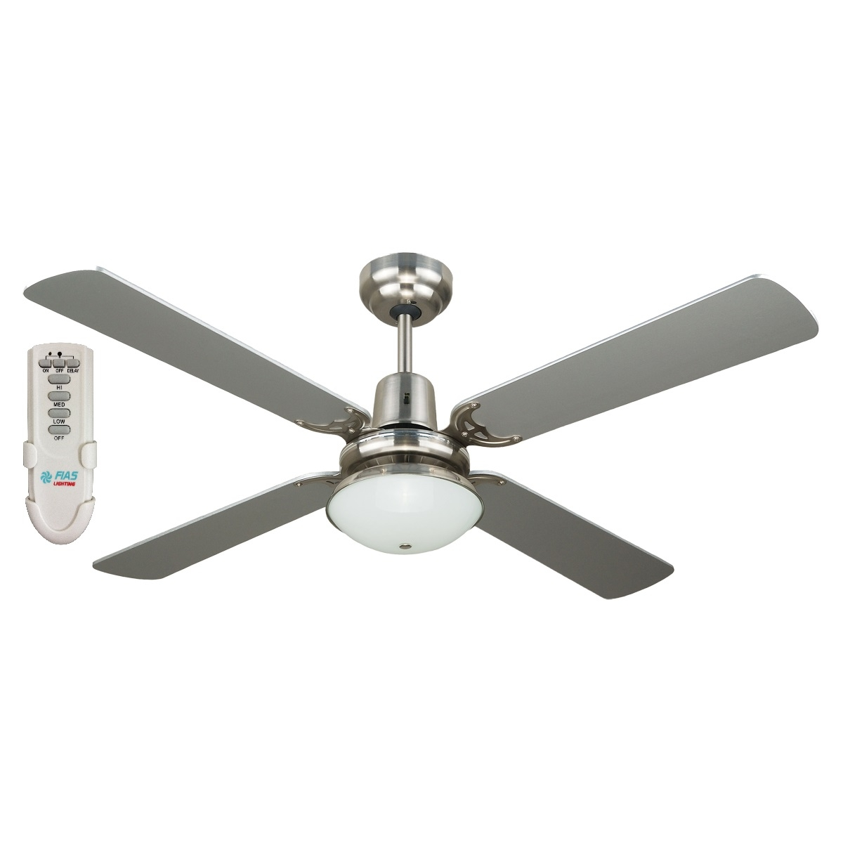 Fias Ramo 4 Blade Ceiling Fan With Light And Remote Control