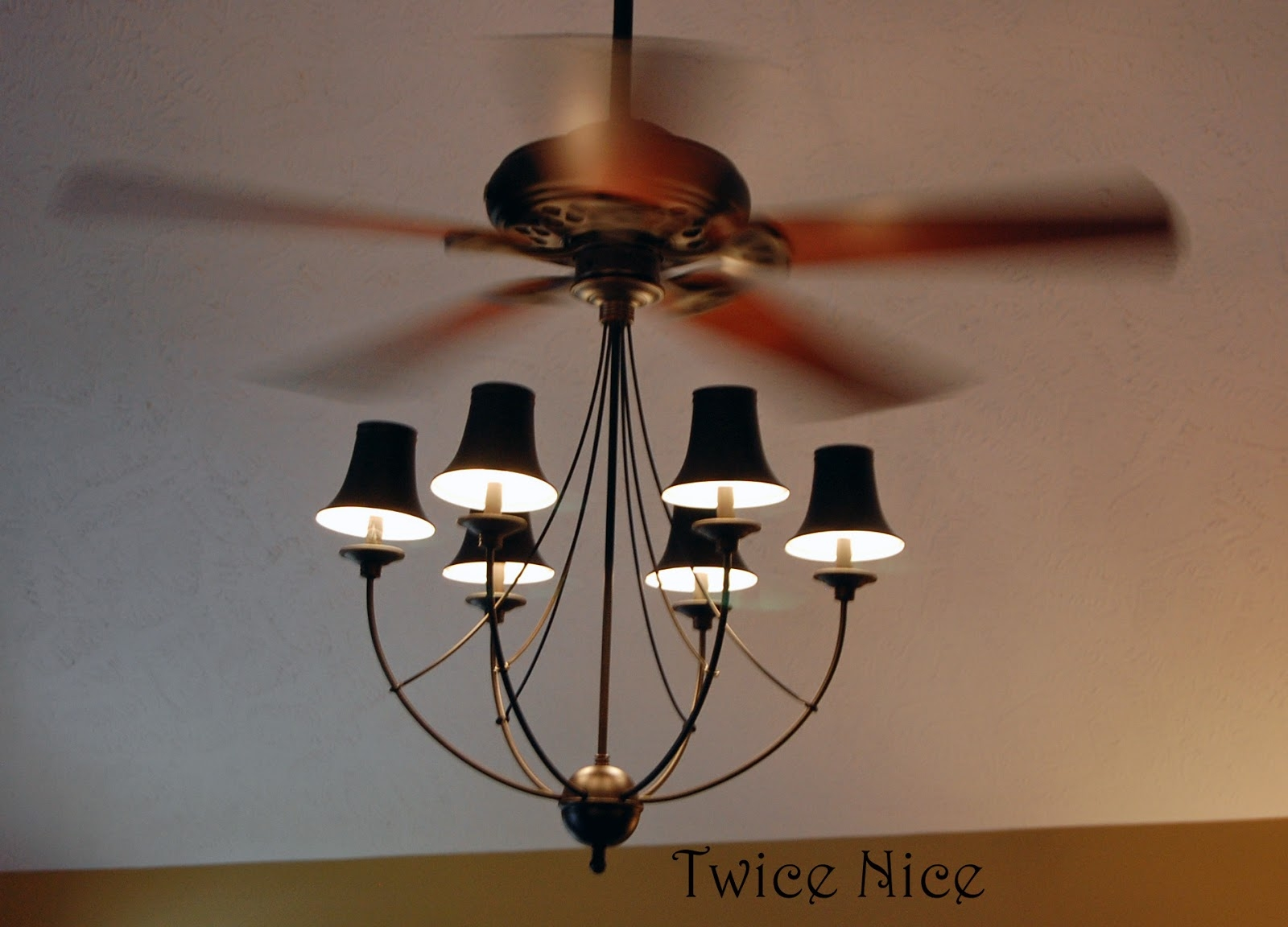 Black Chandelier Ceiling Fan Light Kit