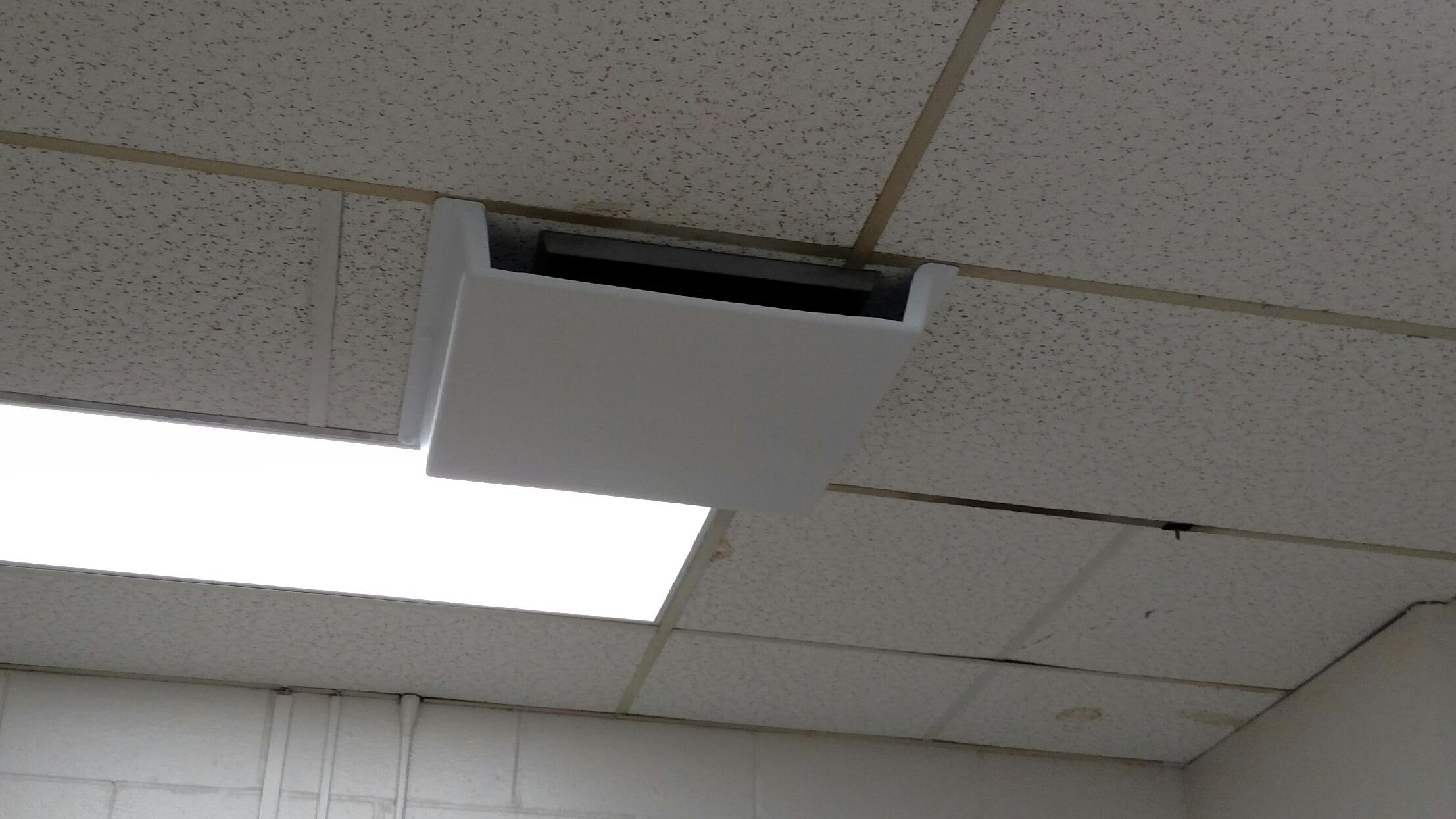 Ceiling Tile Vent Deflector