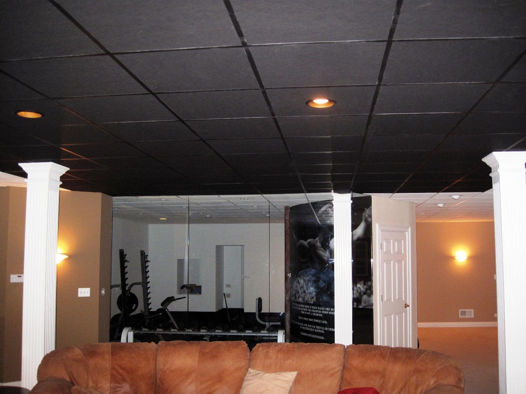 Suspended Ceiling Tiles Black
