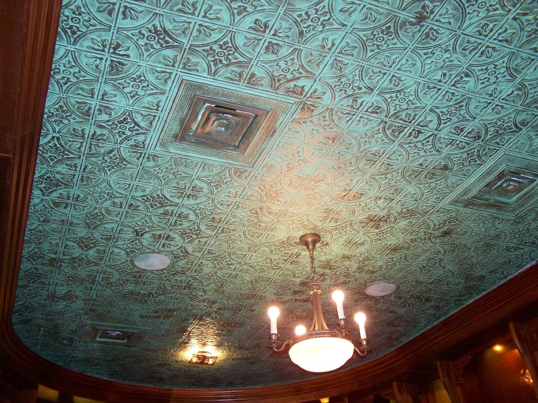 Tin Tiles Ceiling Faux