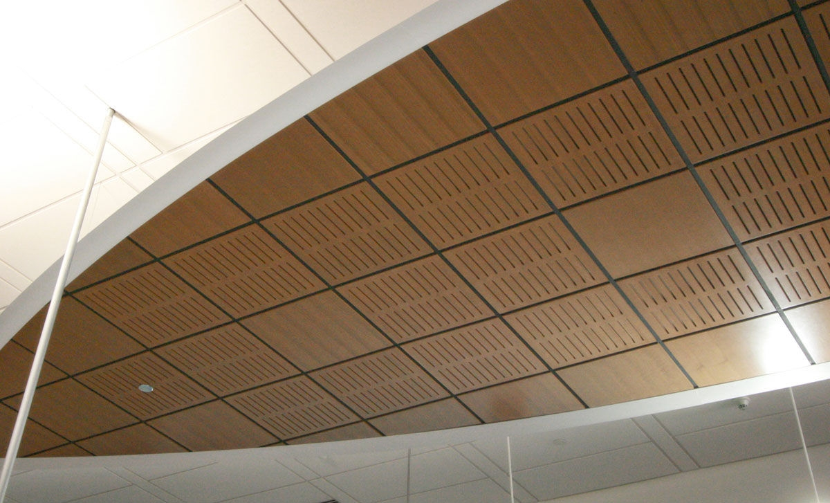 Wood Ceiling Tiles Suspended