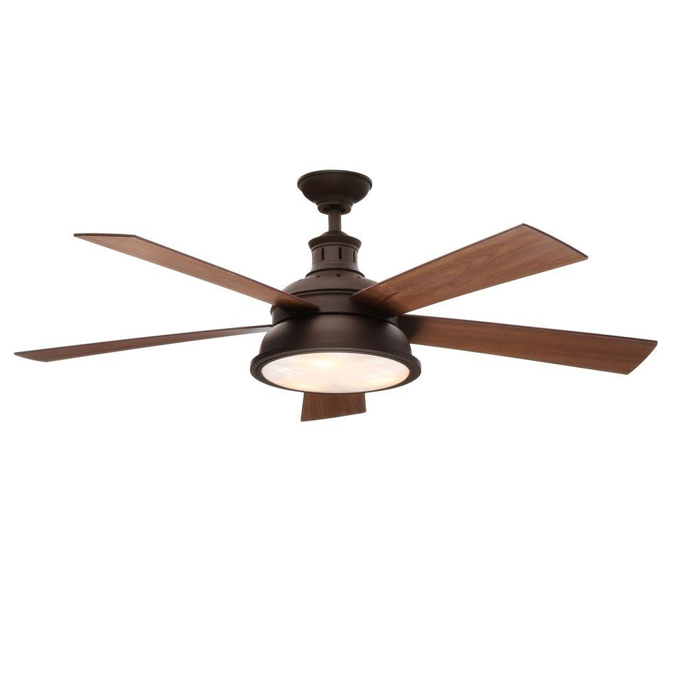Antique Bronze Ceiling Fan With Light