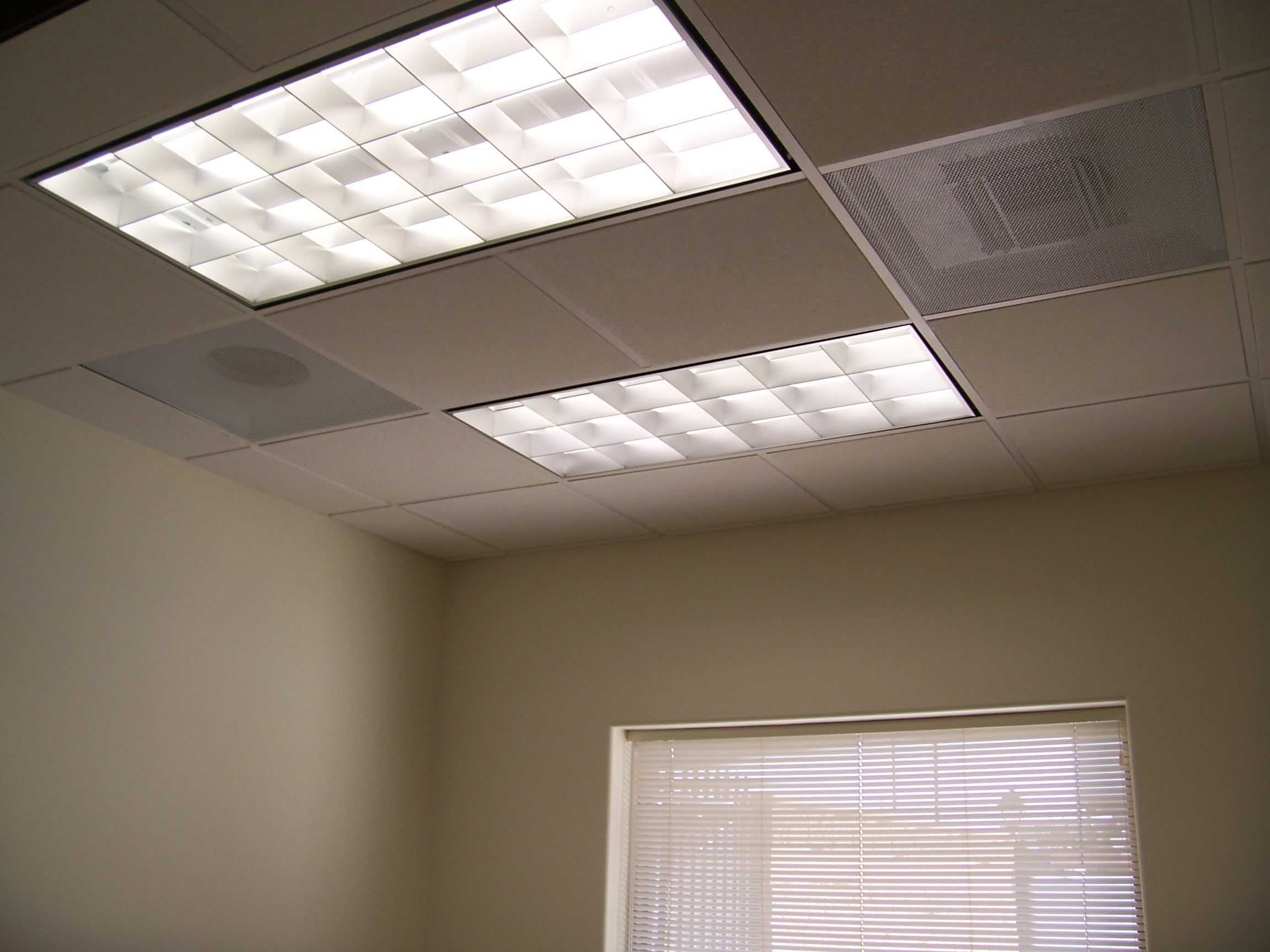 Fluorescent Ceiling Tile Lights