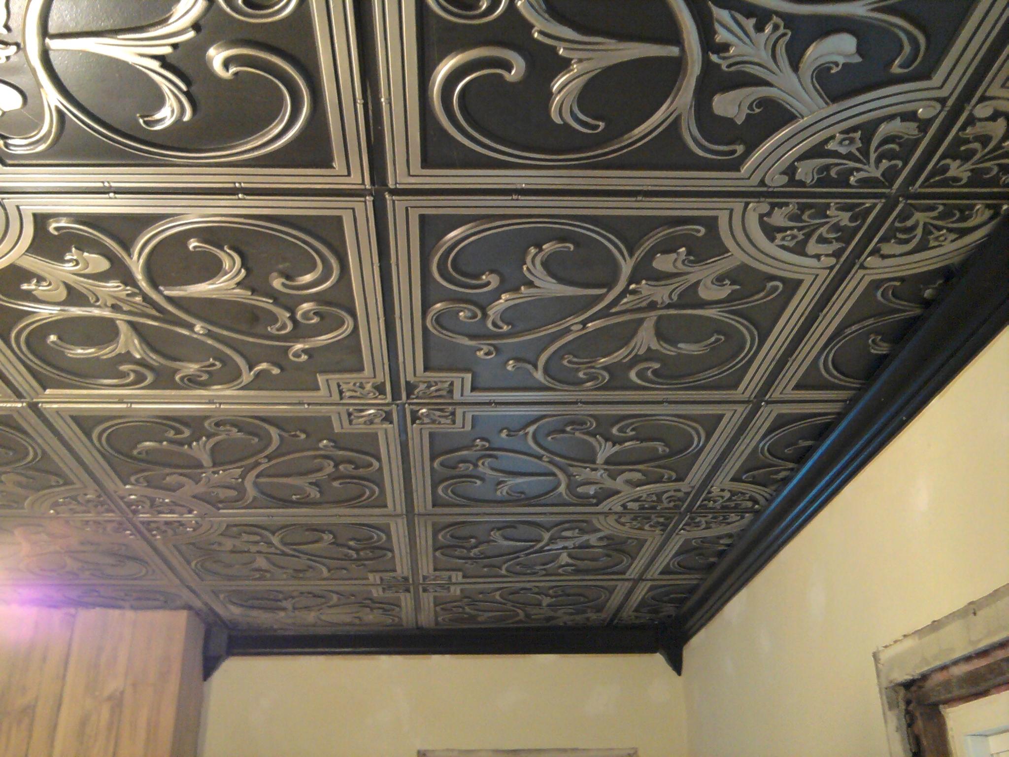 Silver Foam Ceiling Tiles