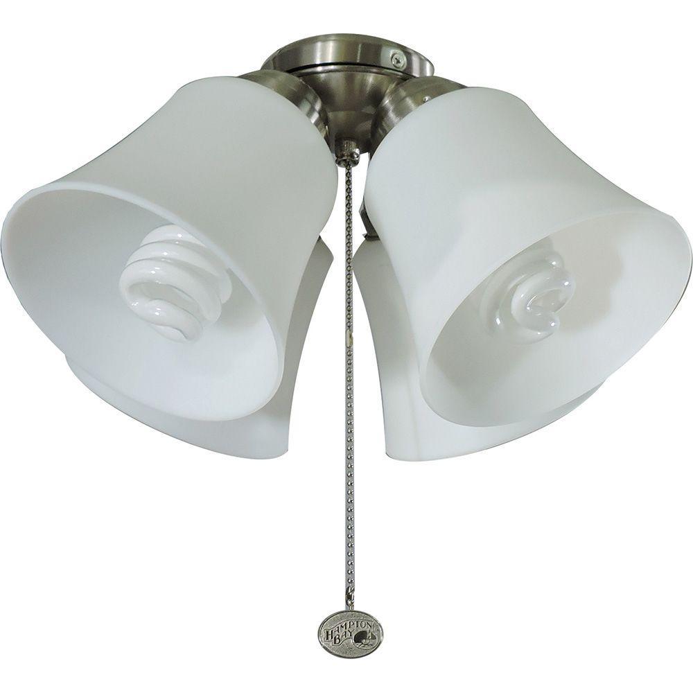 Universal Ceiling Fan Light Kit Brushed Nickel