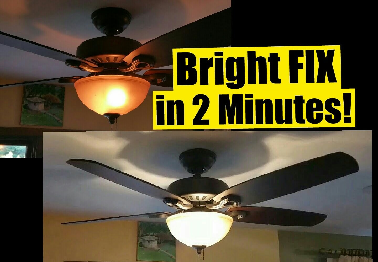 Bright Ceiling Fan Light Fixtures