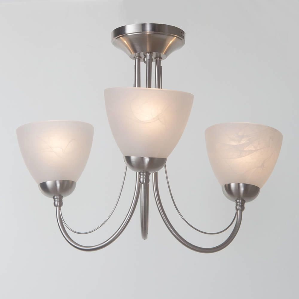 Alabaster Ceiling Light Shadebarcelona 3 light ceiling light satin chrome from litecraft