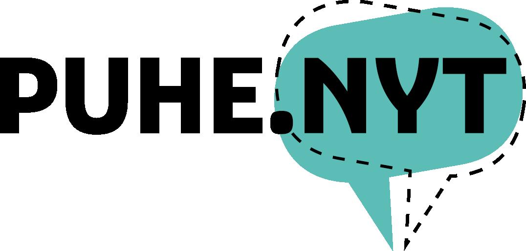 Logo puhe nyt turkoosi