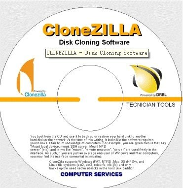 How-to Clone Disks/Partitions with Clonezilla QuickStart Get & Burn - Featured
