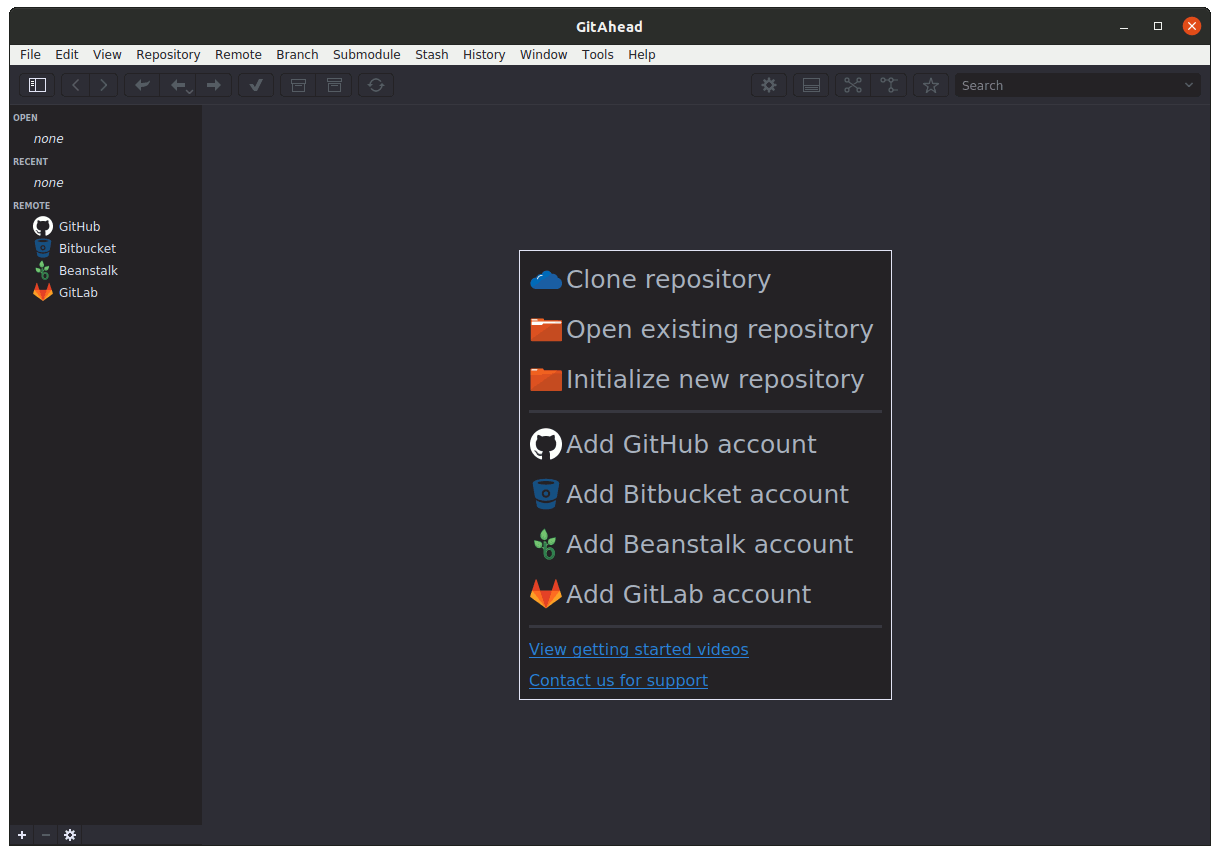 How to Install Best Git Client on GNU/Linux Desktops - GitAhead UI