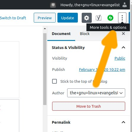 Wordpress Editor Remove p Tag Issue Solution - More Tools and Options