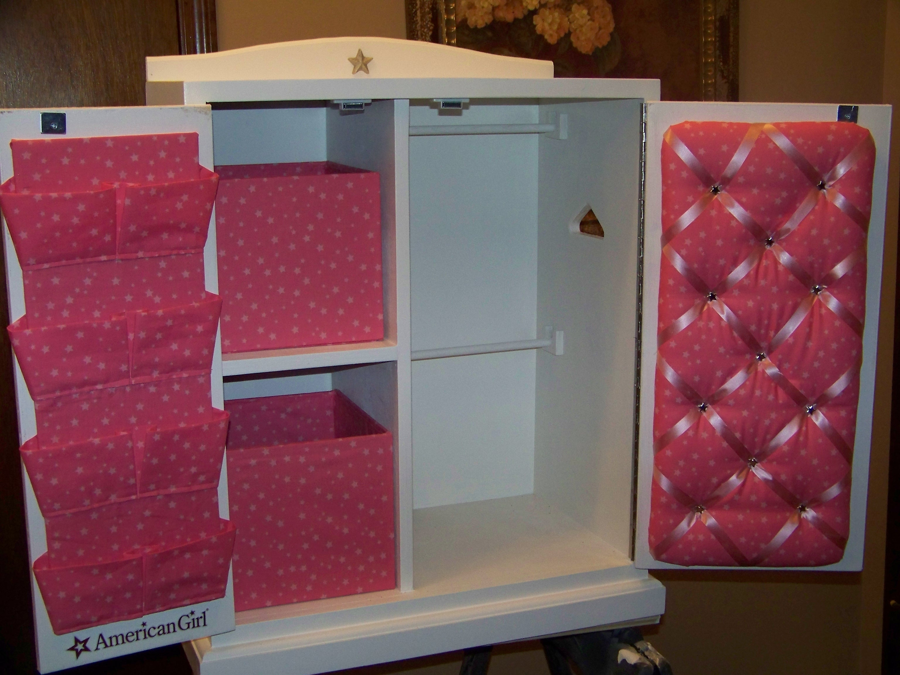 American Girl Doll Storage Cabinetcloset ideas for pretty wardrobe closet for american girl doll
