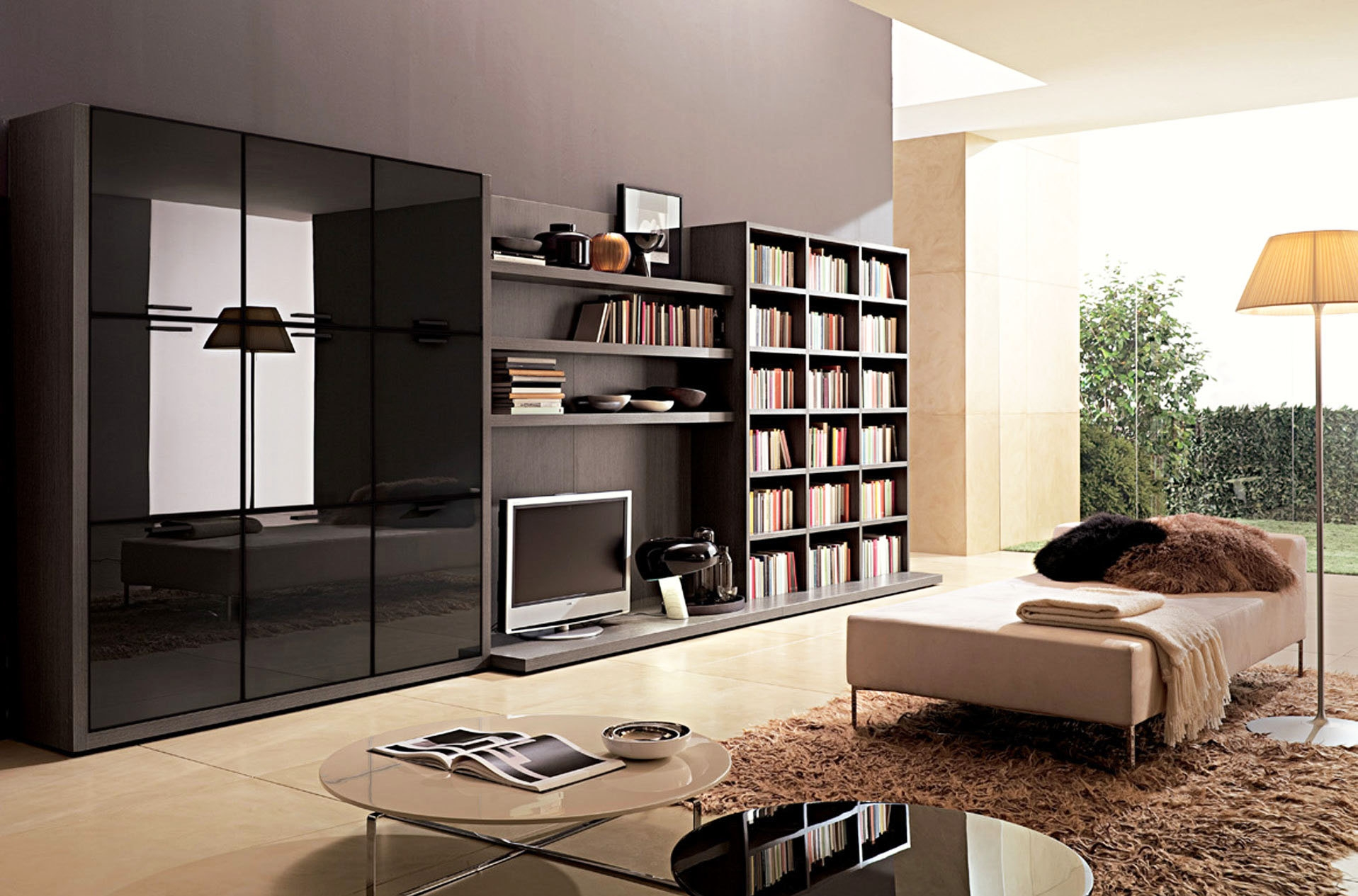 Black Storage Cabinet For Living Roomwall unit for living room