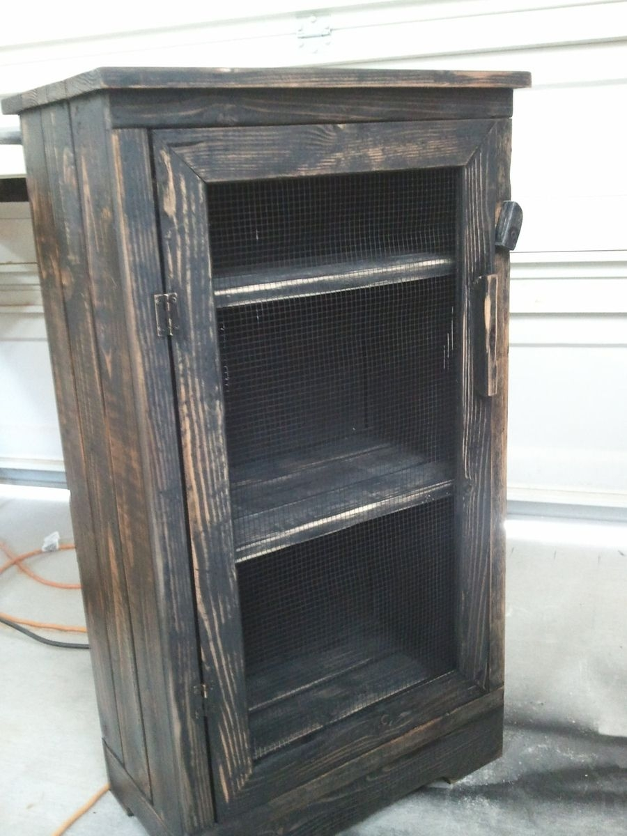 Distressed Wood Storage Cabinethand made black distressed wood jelly storage cabinet