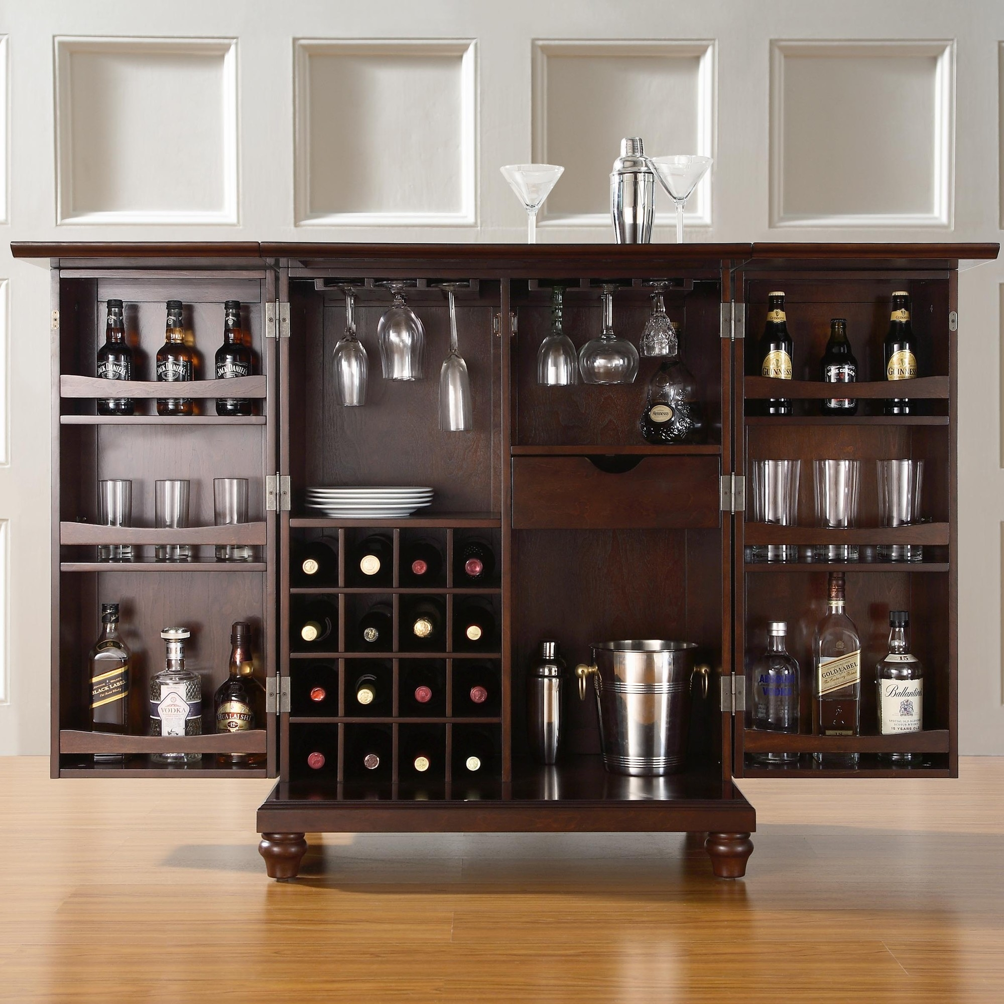 Small Bar Storage Cabinet
