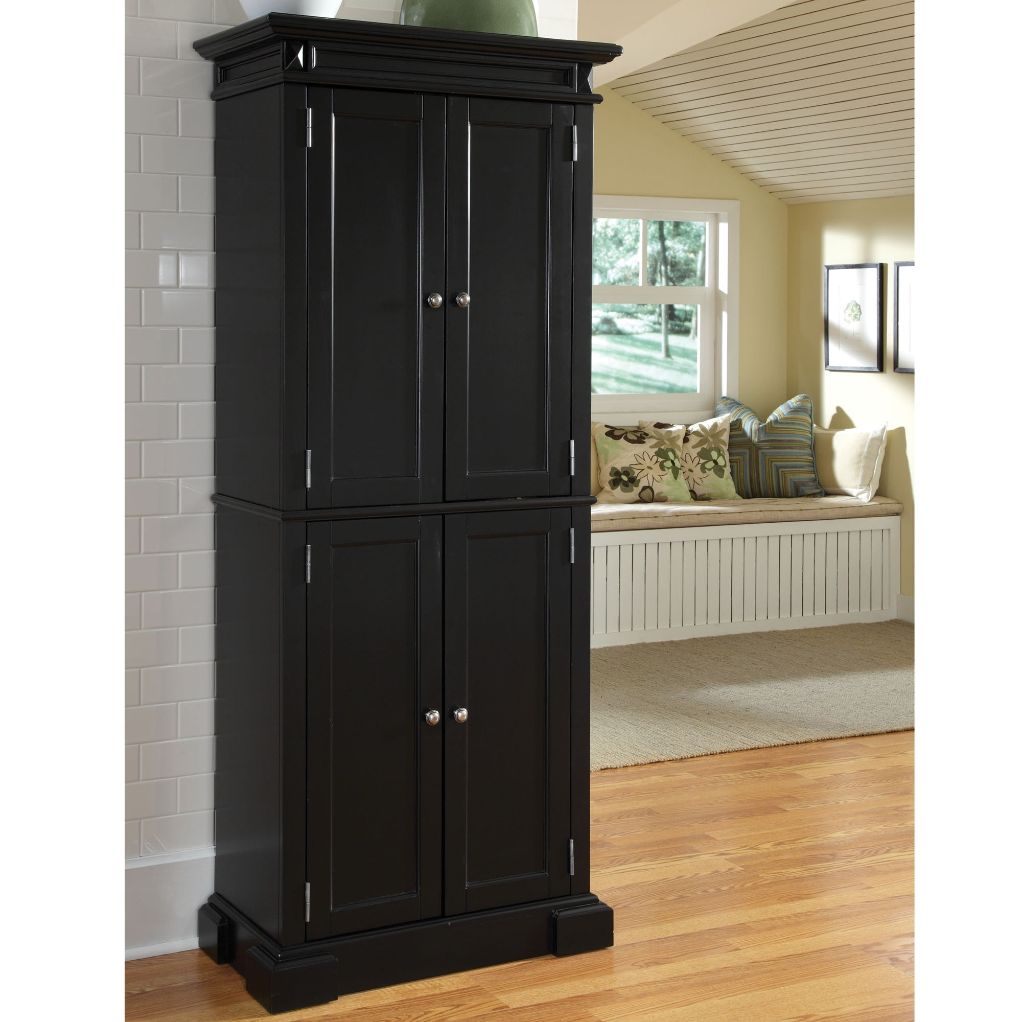 Black Wood Storage Cabinets With Doors