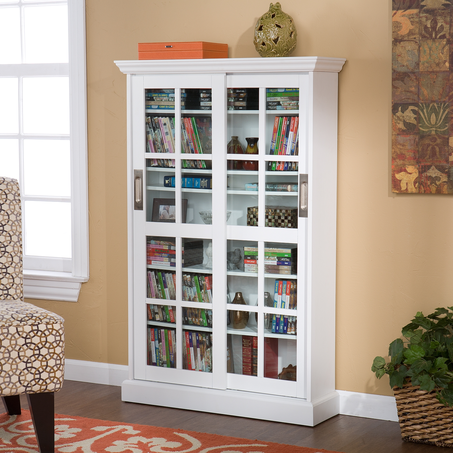 Dvd Storage Cabinet With Doors White