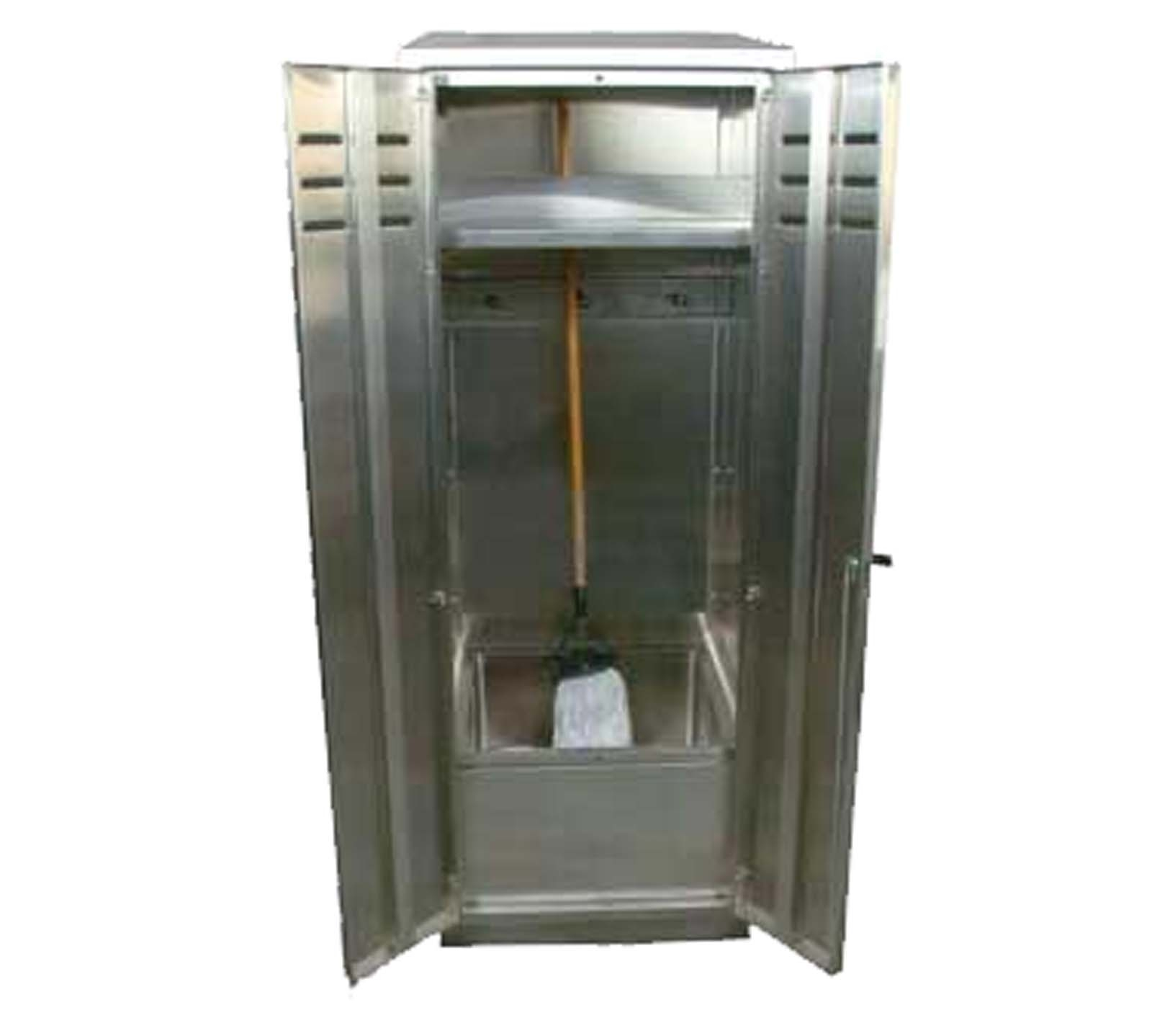 Janitorial Storage Cabinet 30x15x66 Charcoal