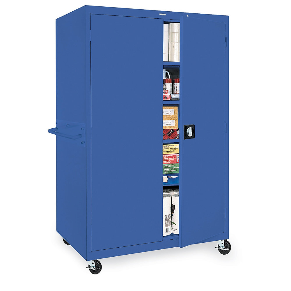 Mobile Storage Cabinet 46x24x78