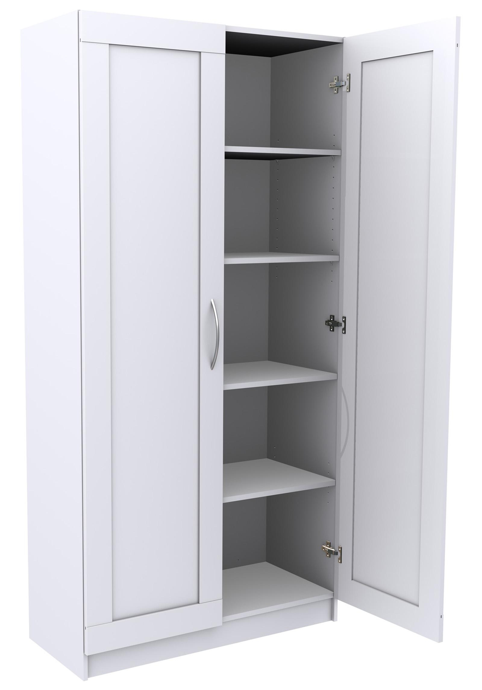 Storage Cabinet With Shelves And Doors