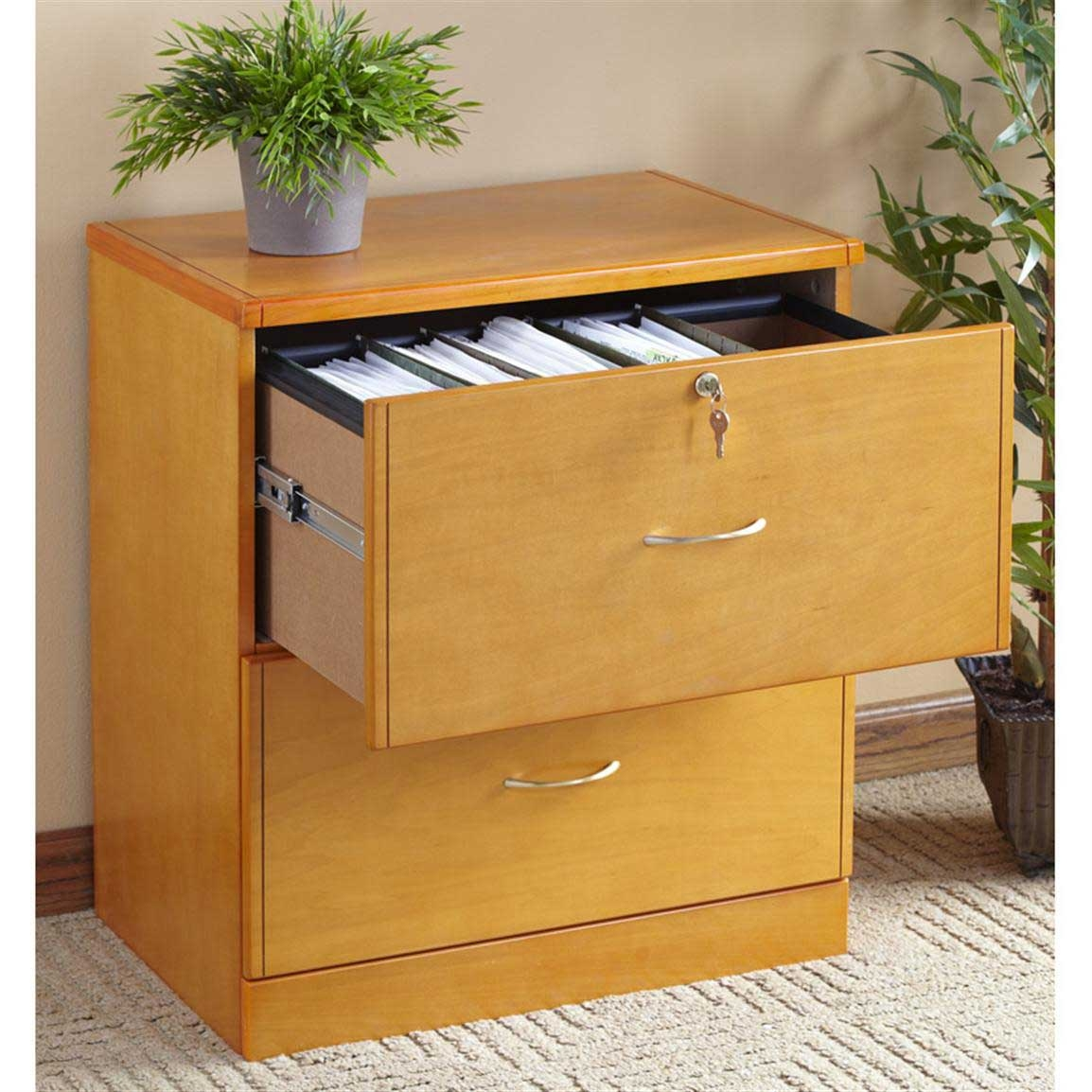 Wooden File Cabinet With Storage