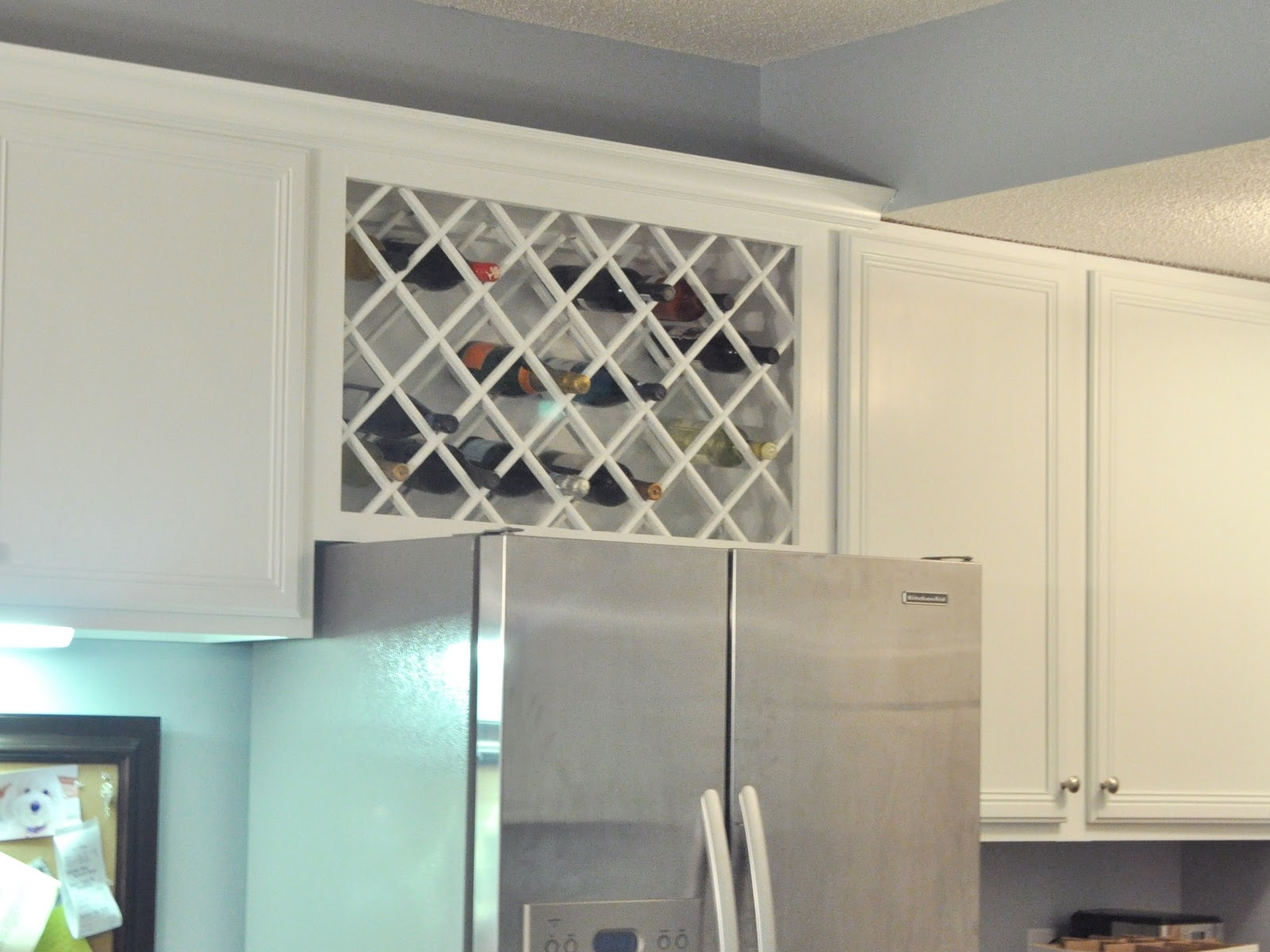 Above Cabinet Wine Storage