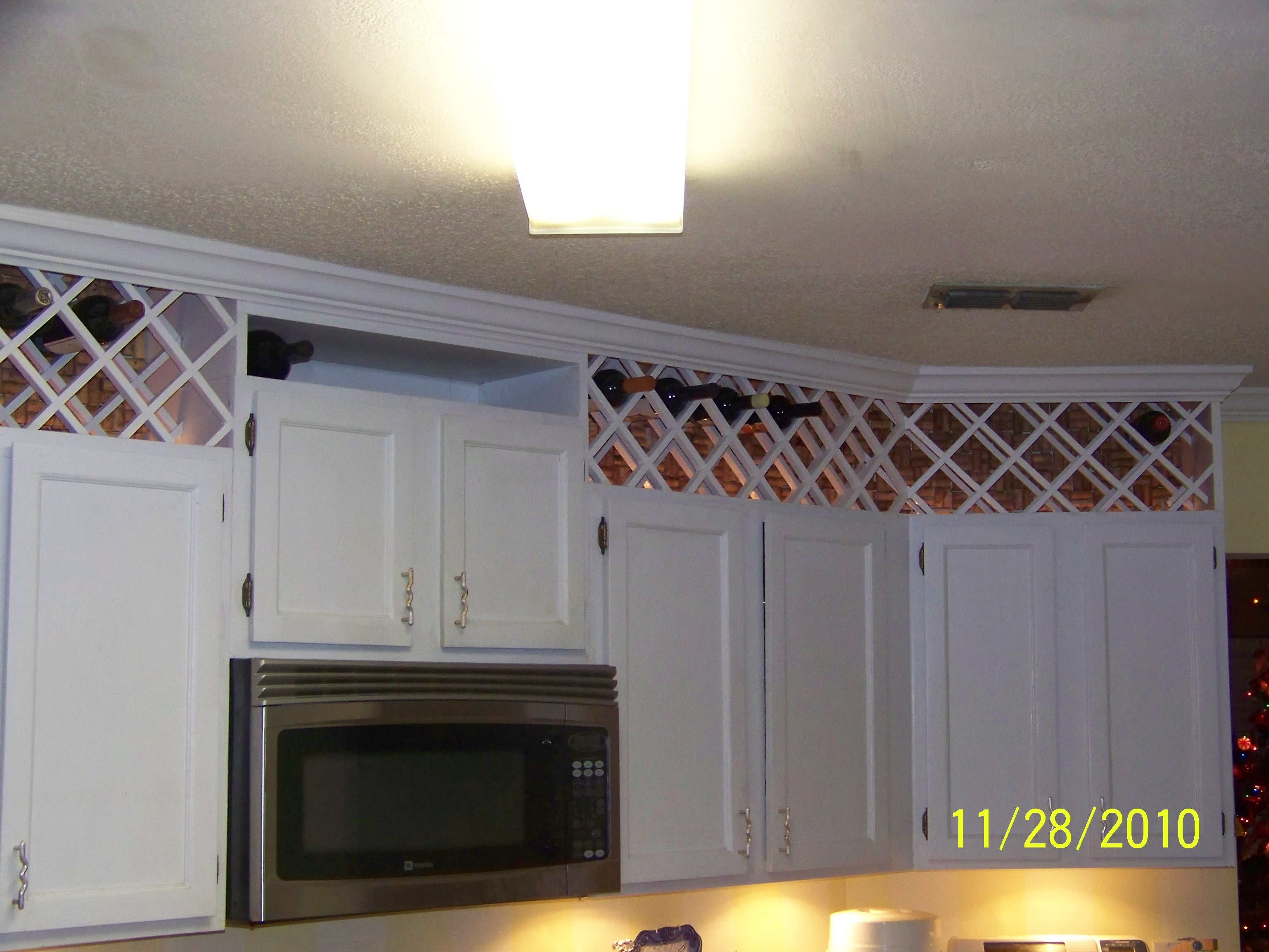 Above Kitchen Cabinet Wine Storage