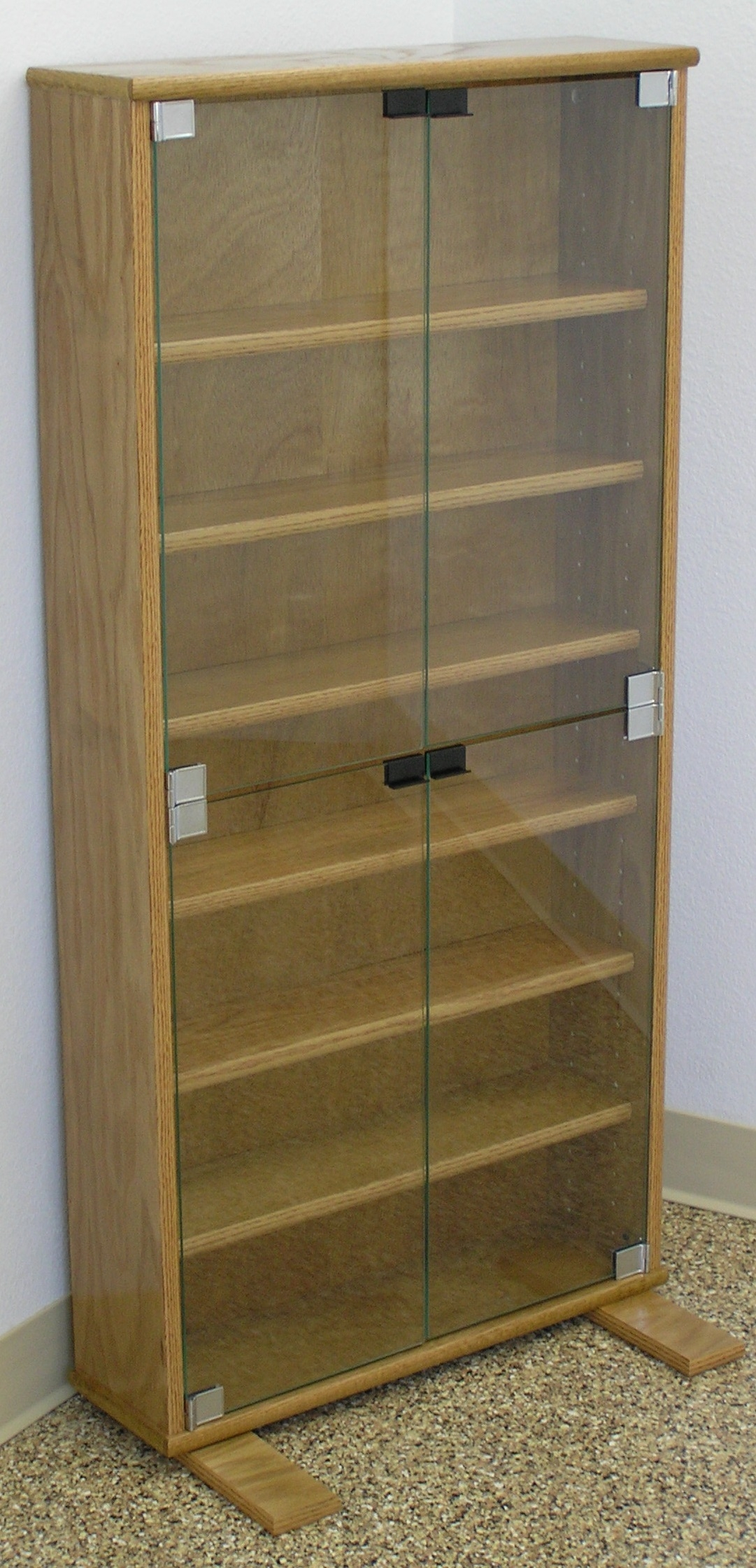 Cd Storage Cabinet With Glass Doors
