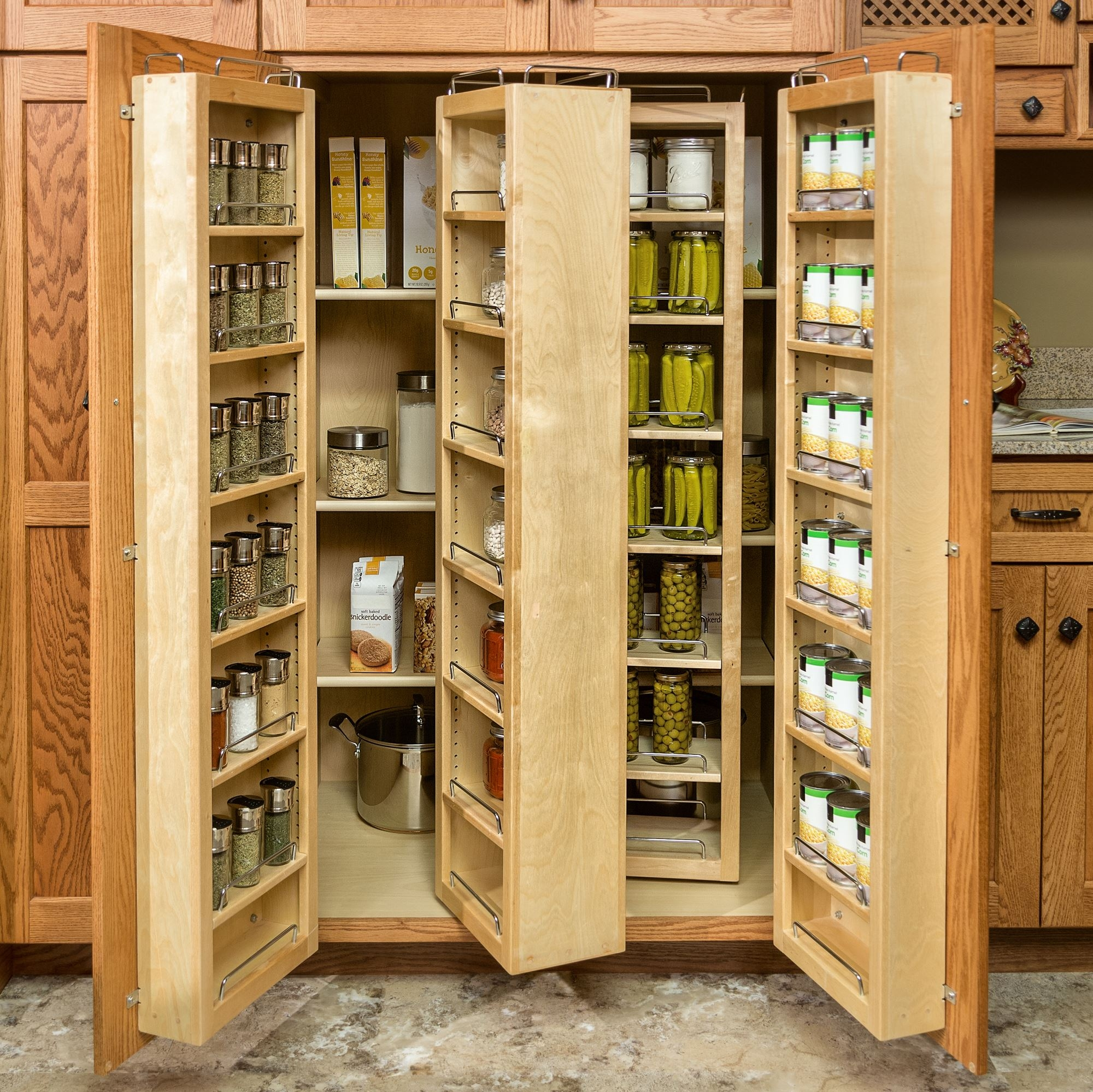Large Food Storage Pantry Cabinet