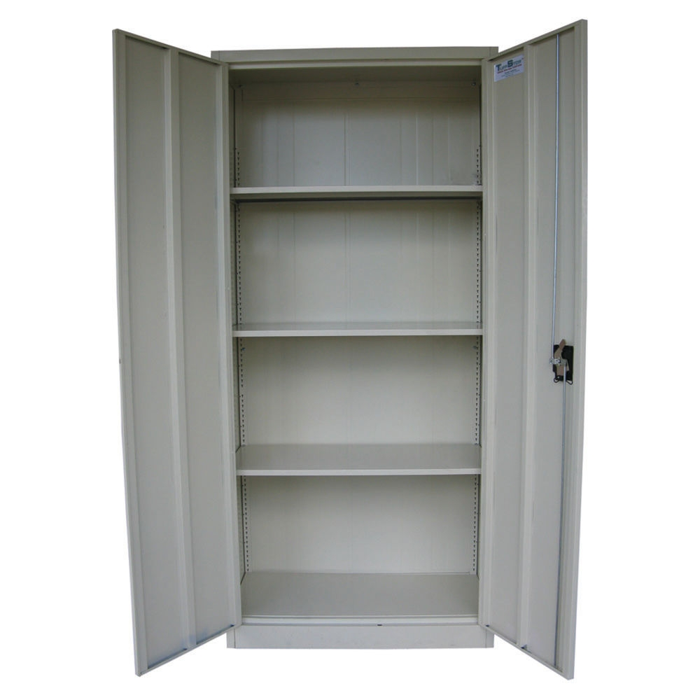 Locking Storage Cabinet With Shelves