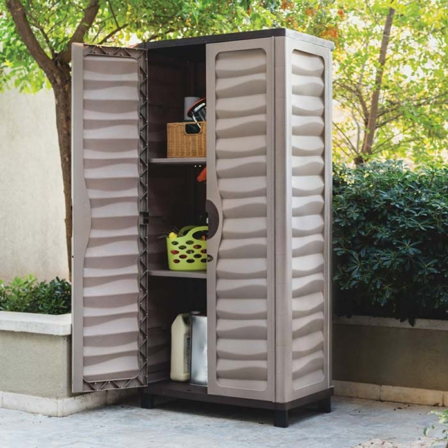Outdoor Storage Cabinet With Doors And Shelves
