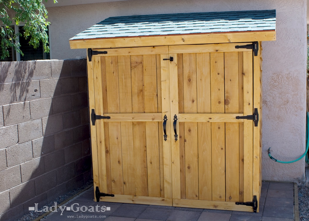 Outside Storage Cabinet Plans