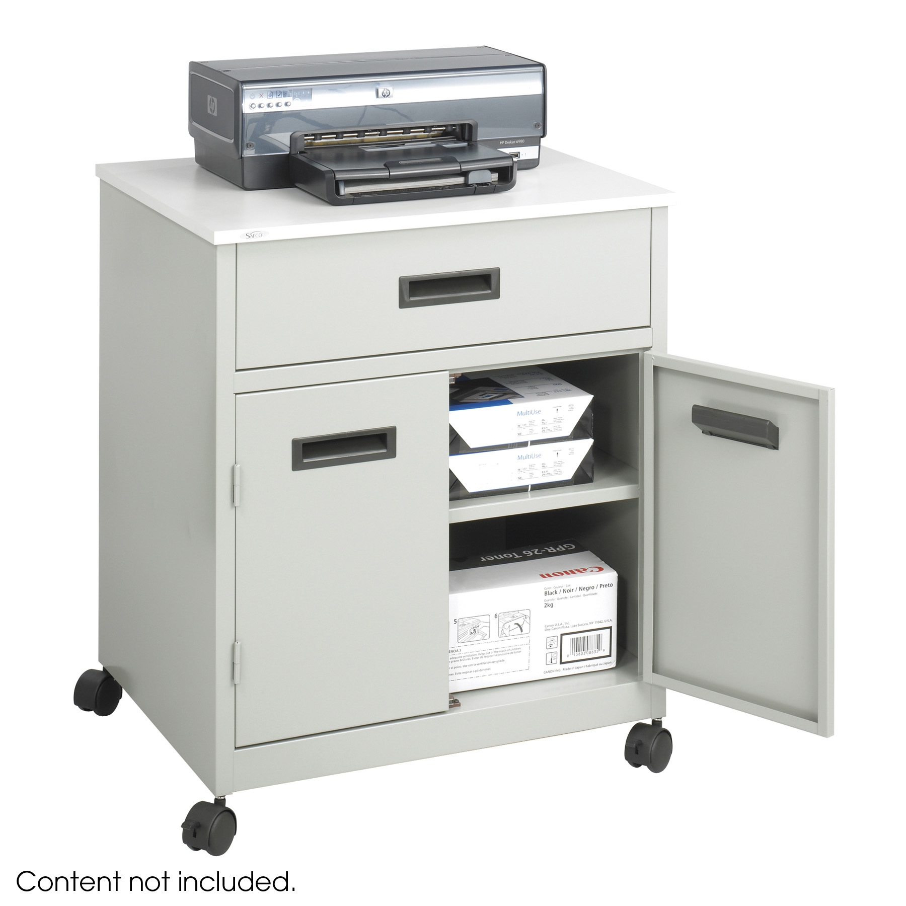 Printer Stand With Storage Cabinet