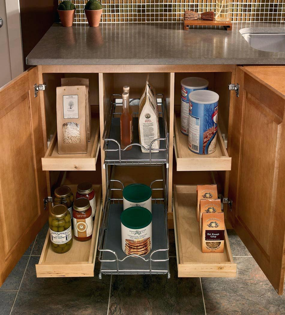 Pull Out Media Storage Cabinet