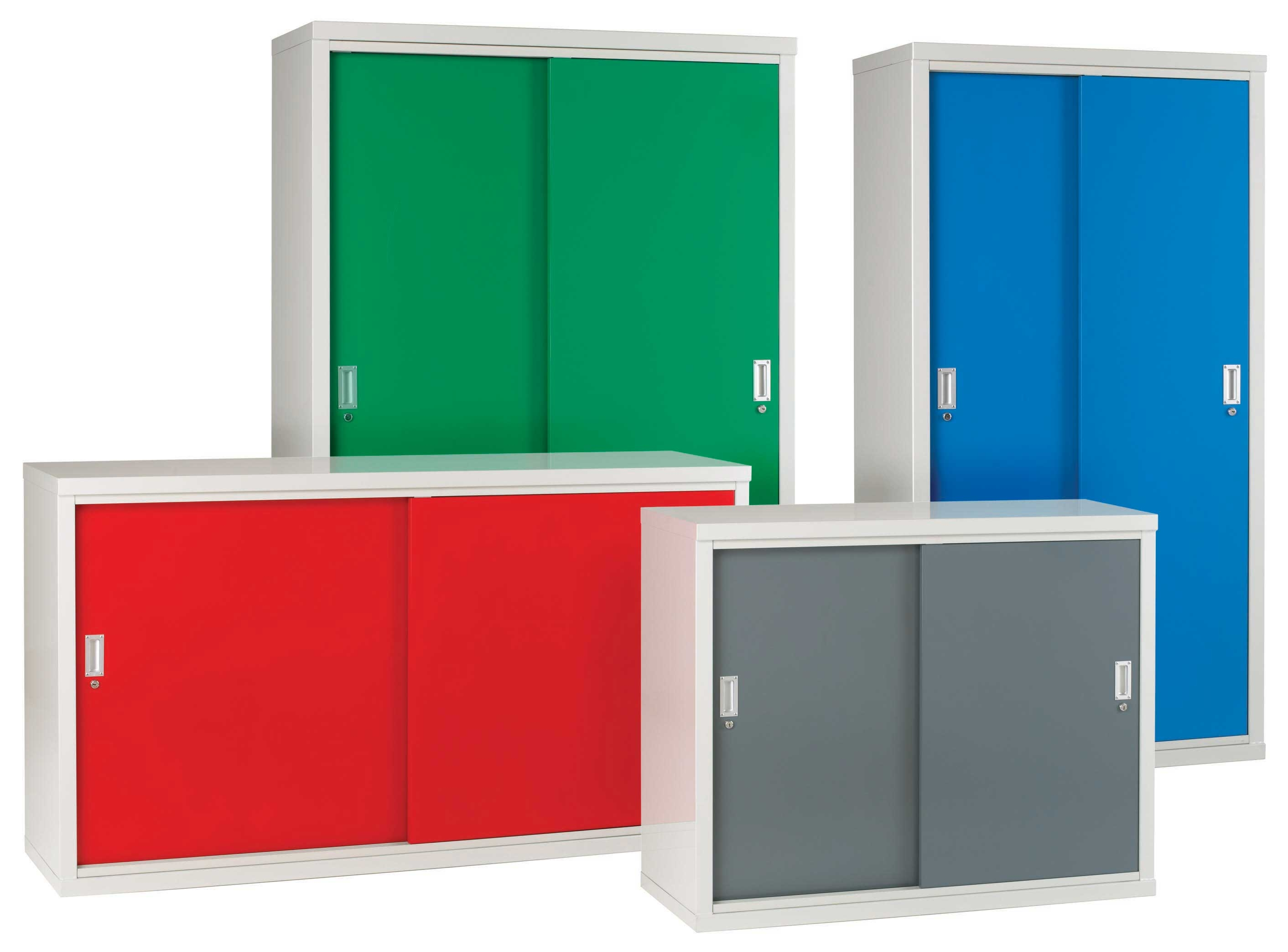 Red Storage Cabinet With Doors