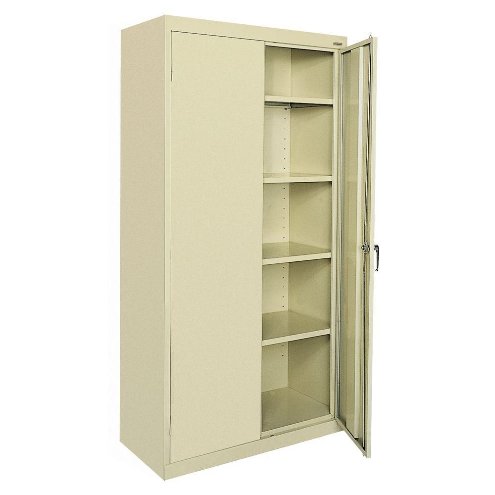 Permalink to Sandusky Standard Storage Cabinet 72 H Putty