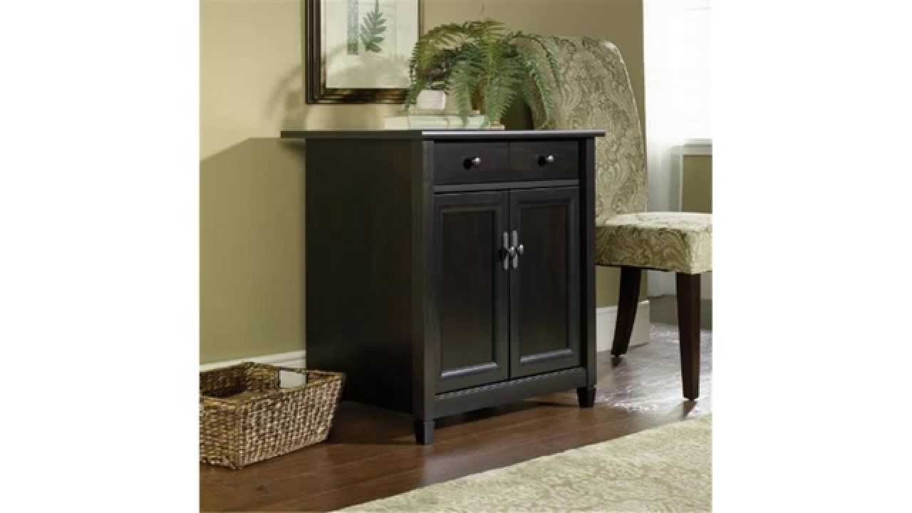 Sauder Storage Cabinet Estate Black