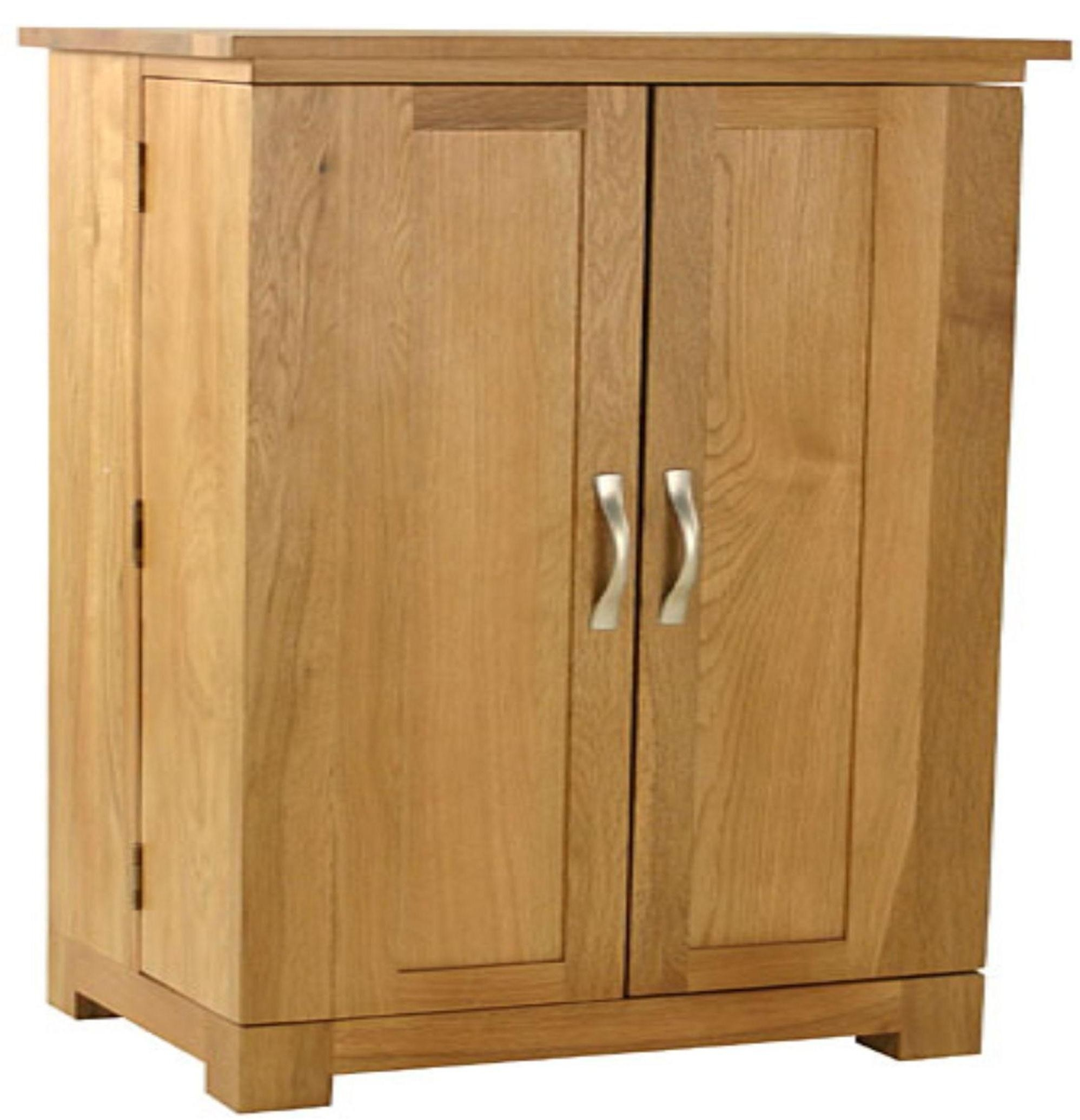 Short Wooden Storage Cabinets