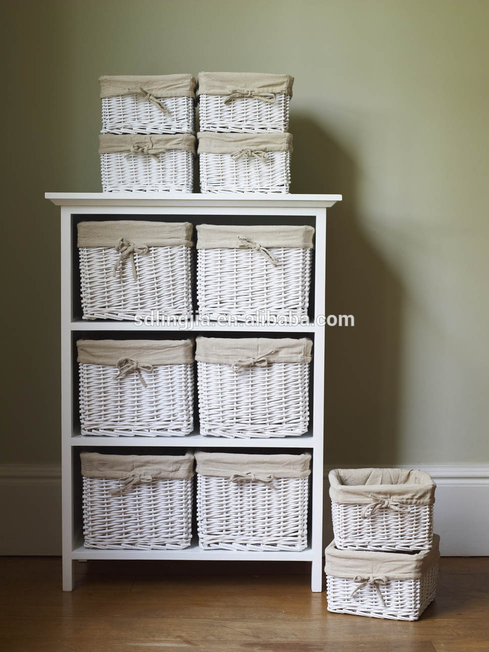Small Wicker Storage Cabinets